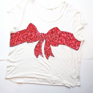 H&M red sequined shirt XL